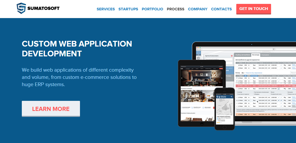 sumatosoft excellent web design firm homepage