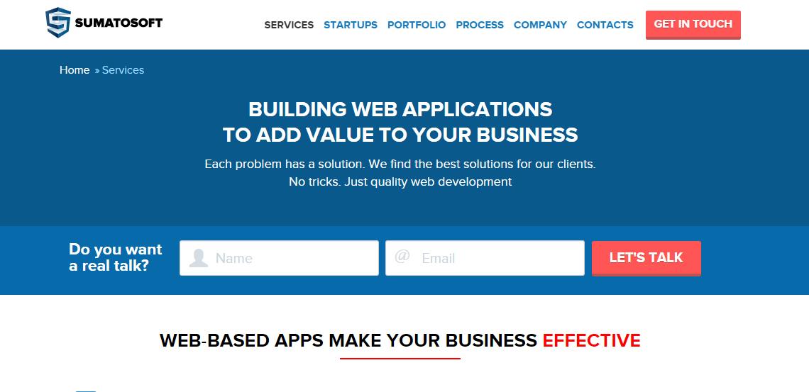 sumatosoft excellent web design firm services