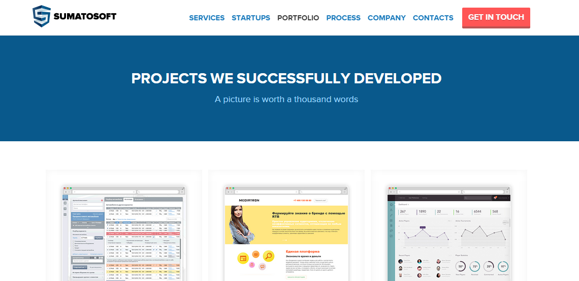 sumatosoft excellent web design firm portfolio