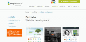 tempocreative great web design firm portfolio