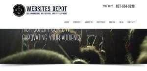 websitesdepot amazing web design firm homepage
