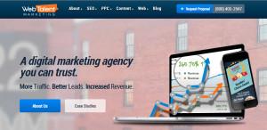 webtalent excellent web design firm homepage