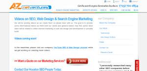 A to Z Net Ventures prime web design firm seo