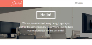 stectech premium web design firm homepage