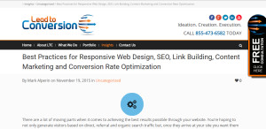 lead to conversion outstand seo web design firm insights