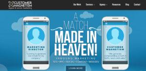 customer magnetism superb seo web design homepage