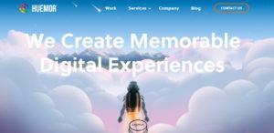 huemor awesome web design homepage