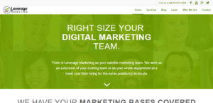 leverage marketing best design company home page