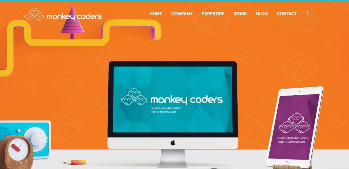 monkey coders elite web design home page
