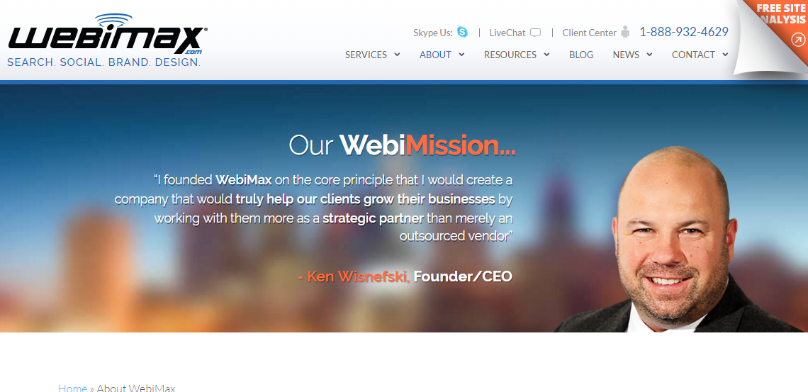 webimax first class web design about us