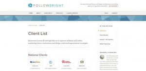 followbright expert web design firm clients