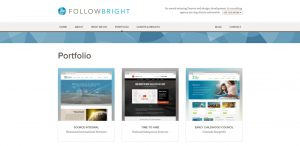 followbright expert web design firm portfolio