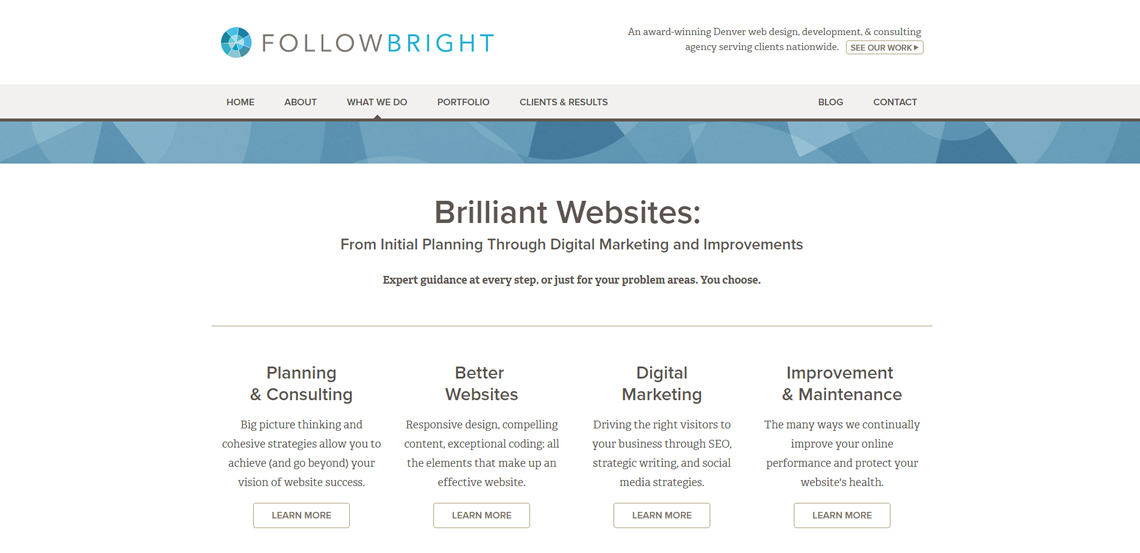 followbright expert web design firm what we do