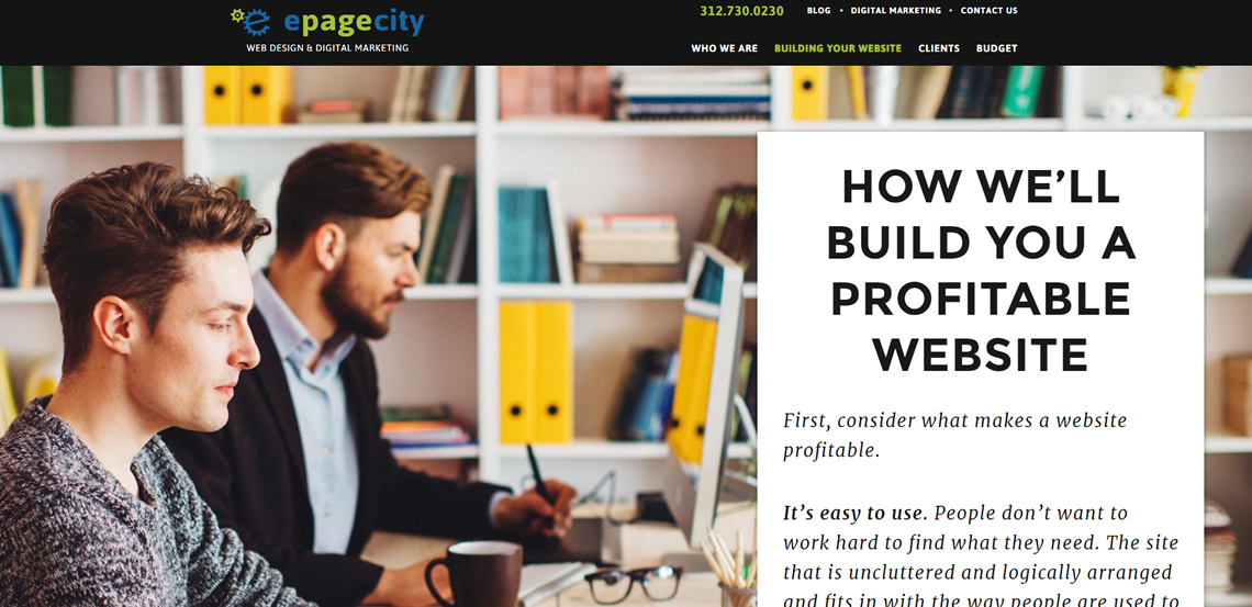 epagecity awesome web design firm process