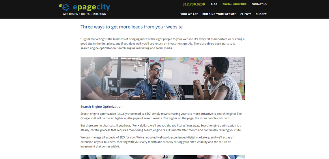 epagecity awesome web design firm digital marketing