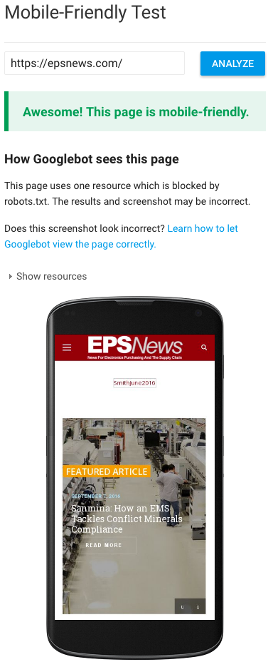 EPSNews Mobile Readiness