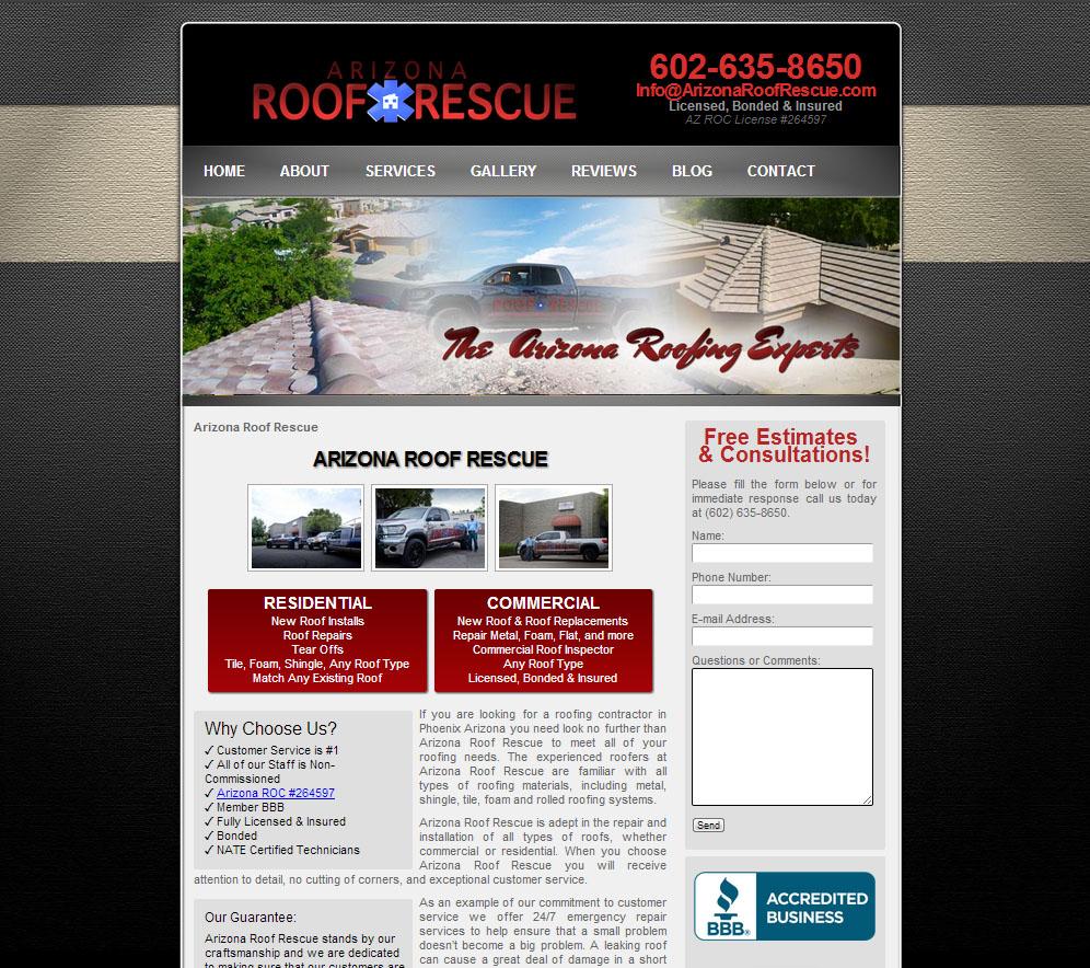 arizona-roof-rescue-contractor-website-seo
