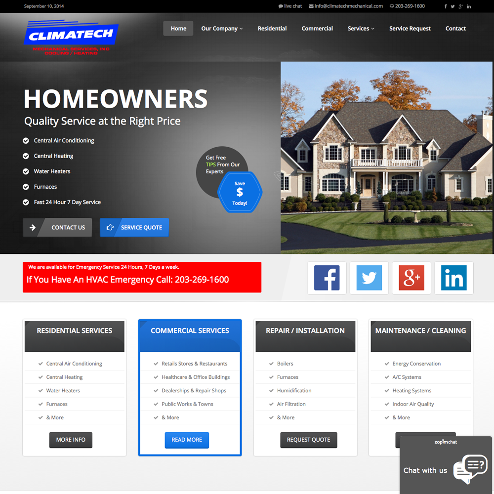 climatech-mechanical-web-design