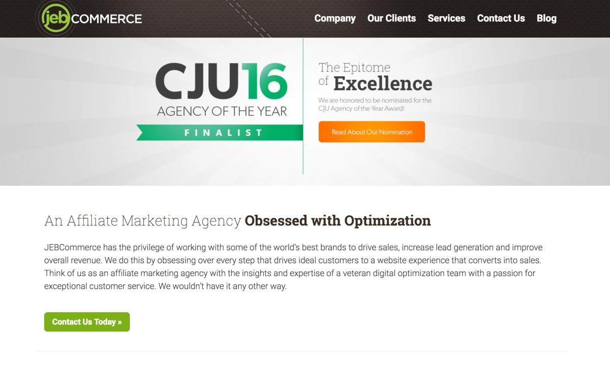 JEBCommerce Web Design Company Homepage