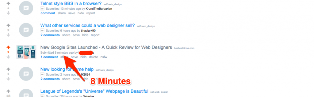 Web Design on Reddit