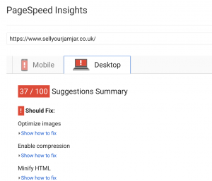web redesign page speed
