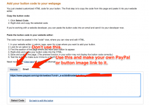 paypal button on new google sites