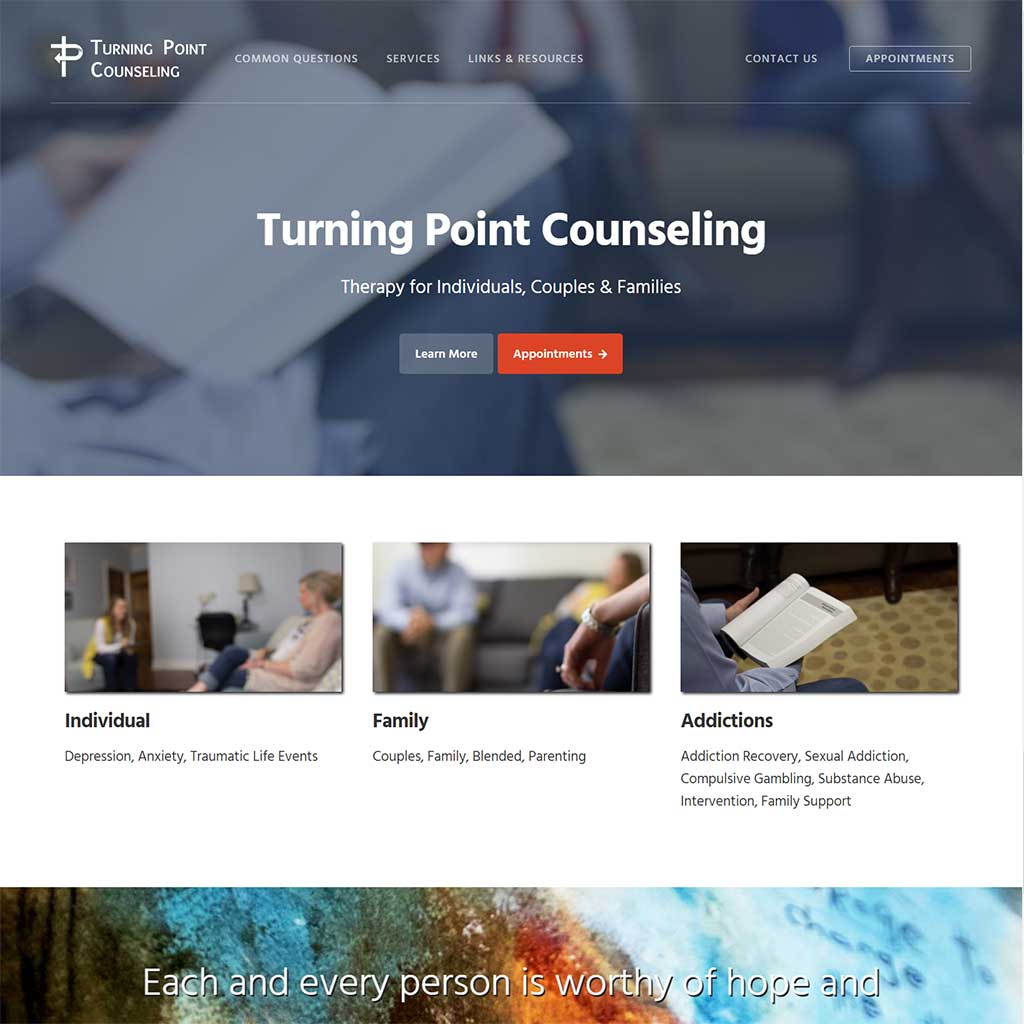 turning-point-counseling-web-design