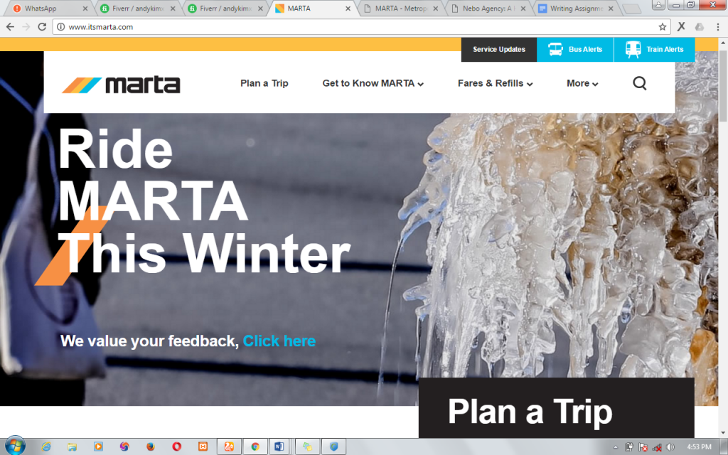 MARTA website redesign