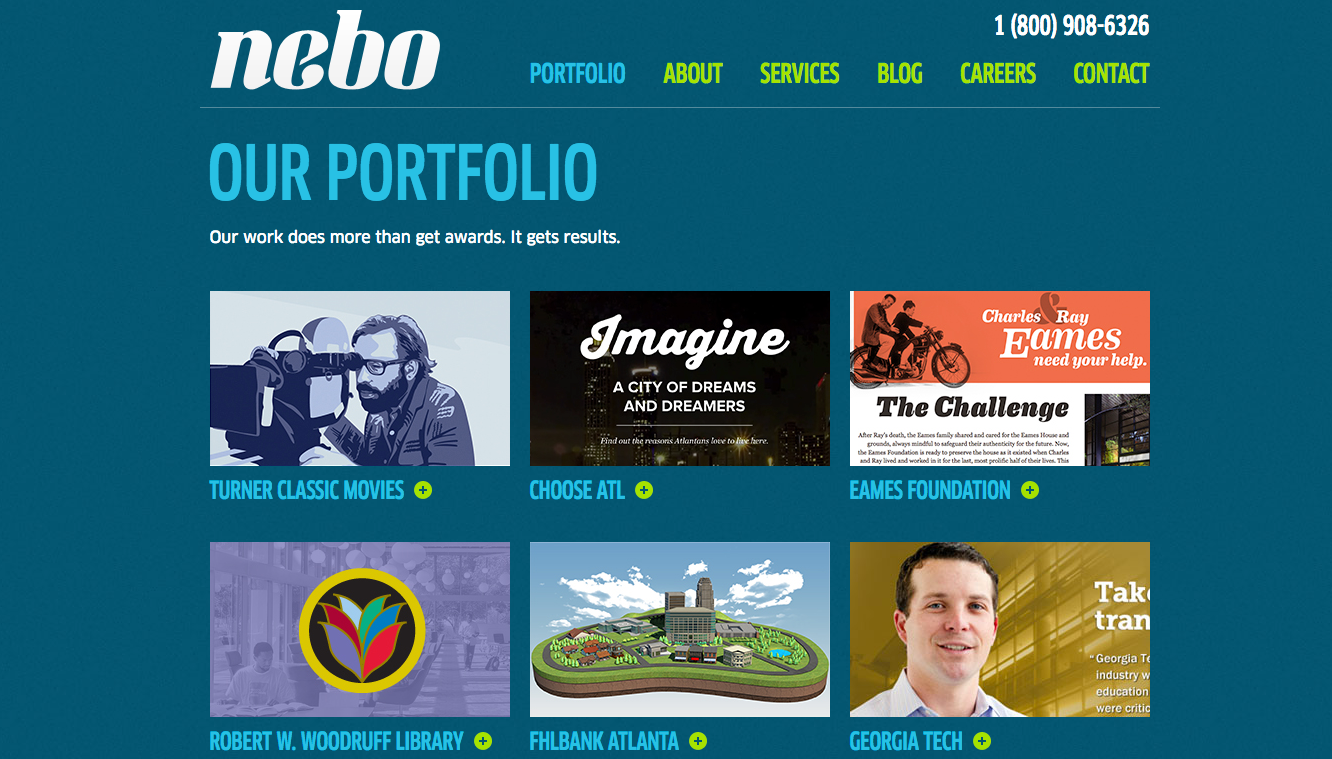 digital marketing portfolio for nebo