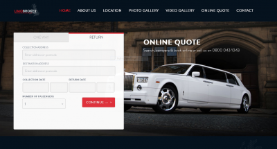 limo industry web design