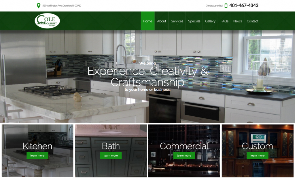 Cole Cabinets Website