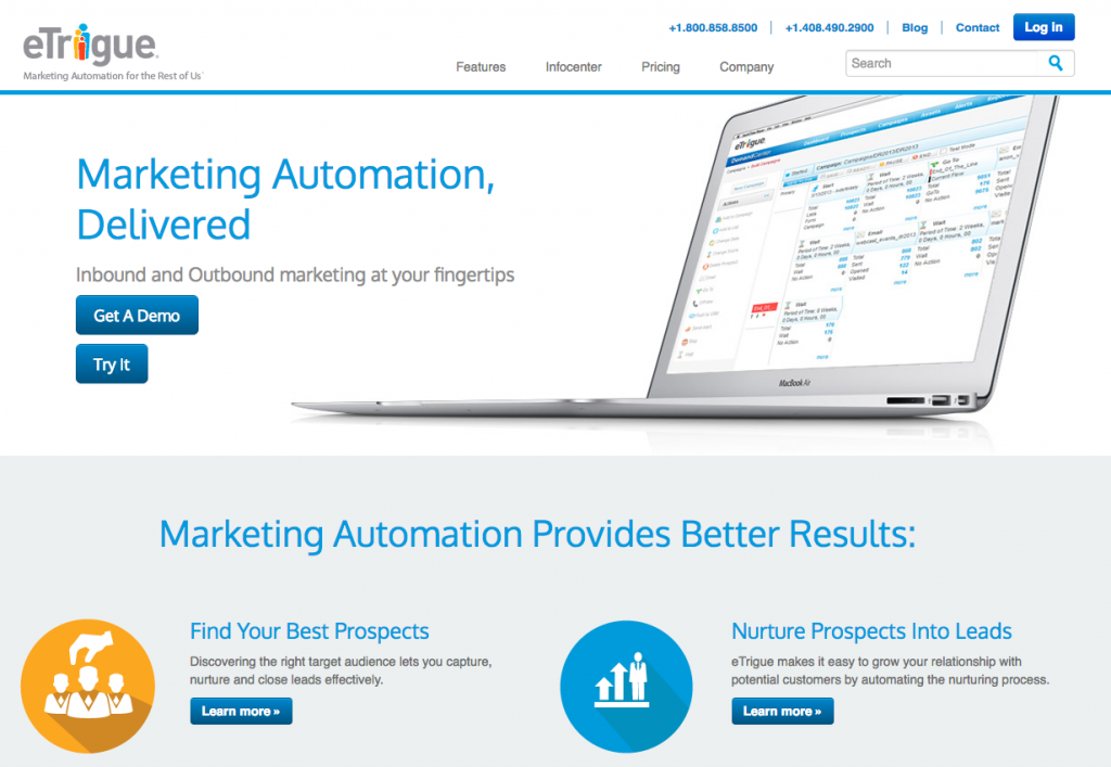 etrigue marketing automation