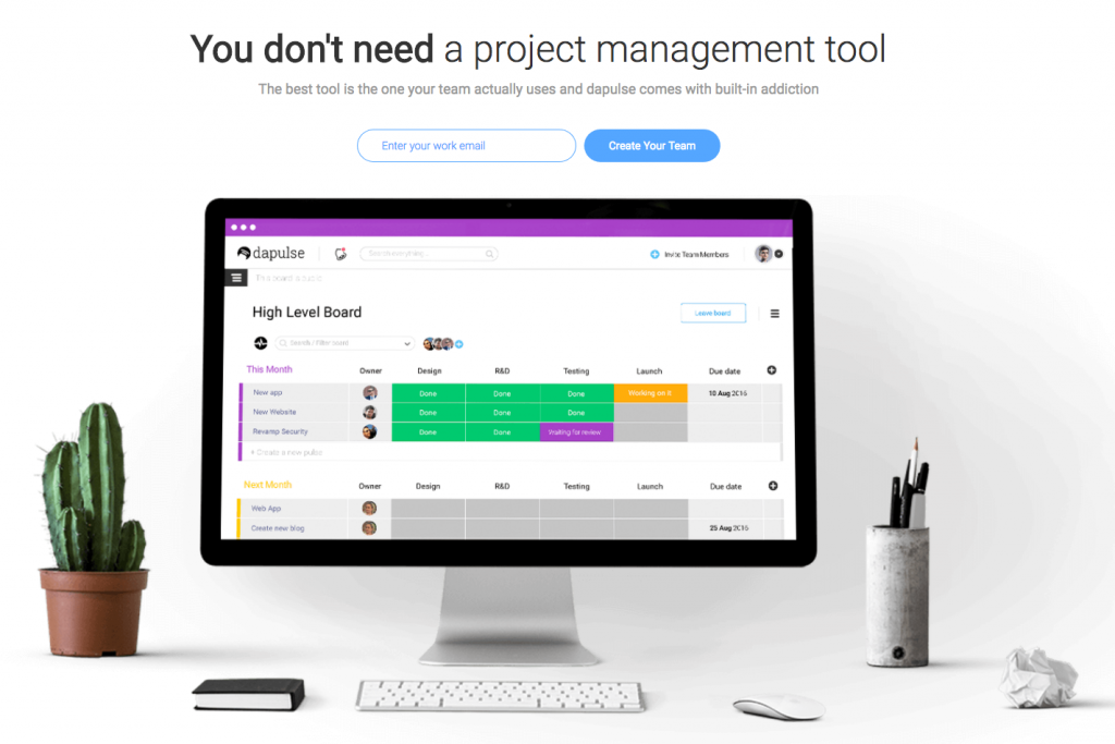 dapulse project management automation