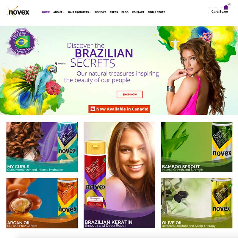web-design-novex-hair-care-8x8