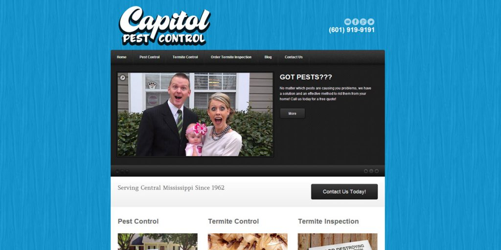 Captiol Pest Control Website Design