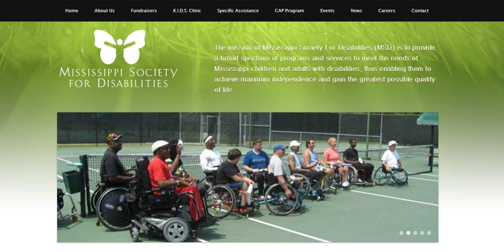 Mississippi Society for Disabilities Website Design