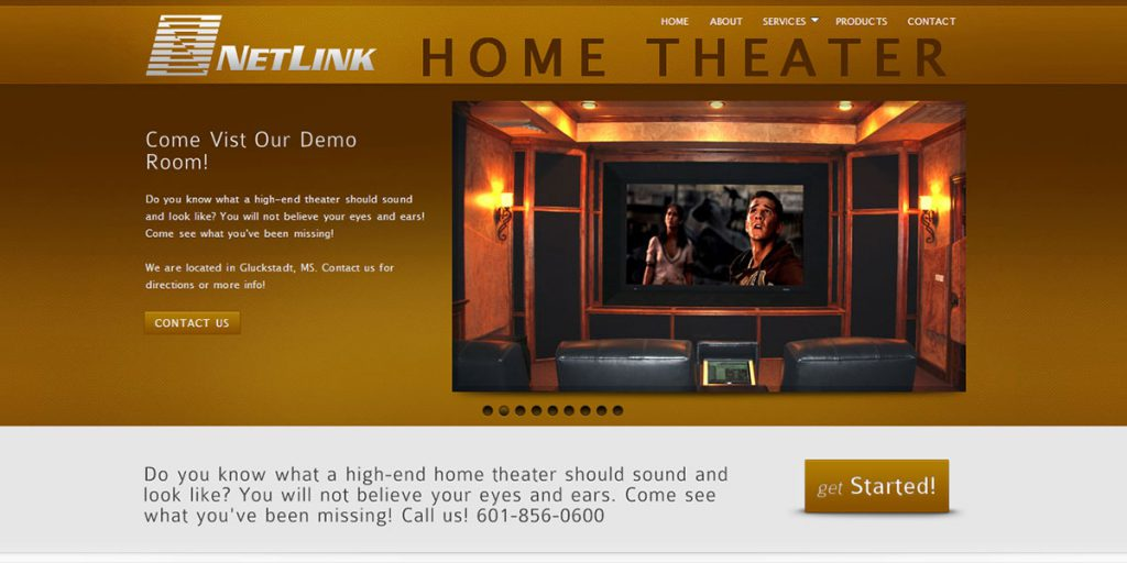 Netlink Home Theater Website Design