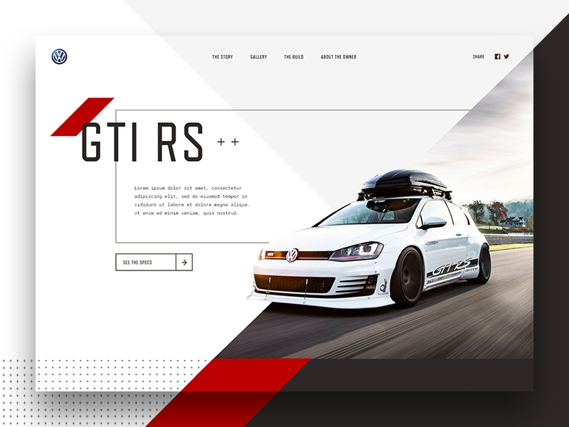 GTI website redesign concept by Jared Granger