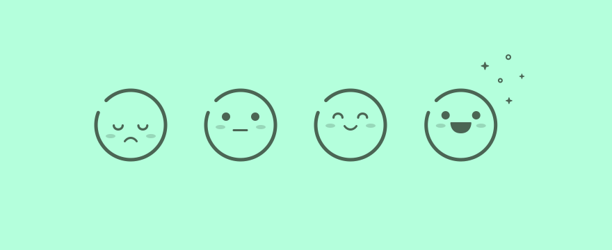 customer happiness app ux