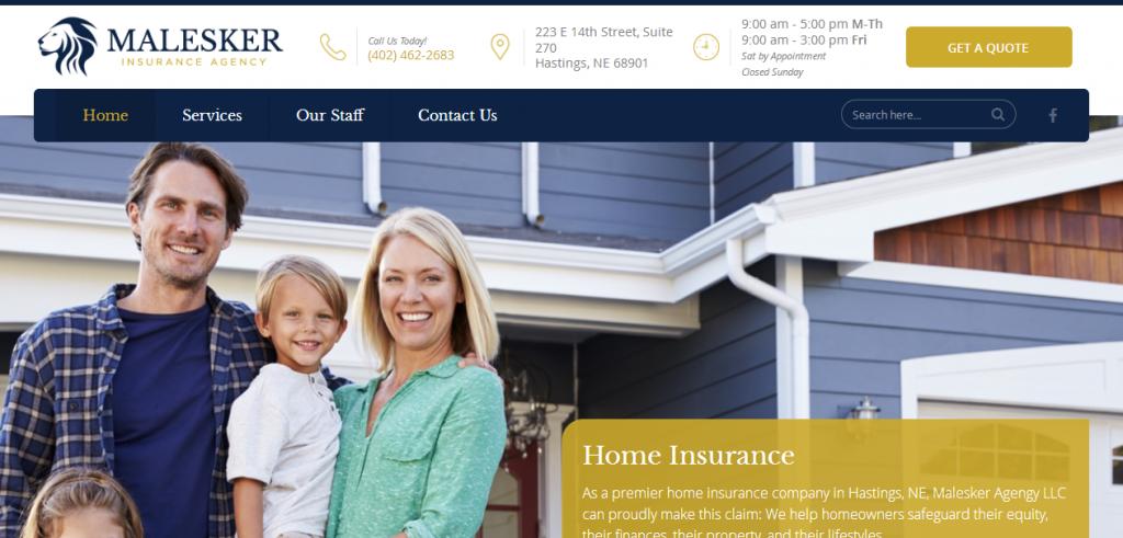 Malesker Insurance Agency Website