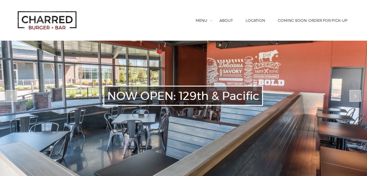 Charred Burger + Bar | Website