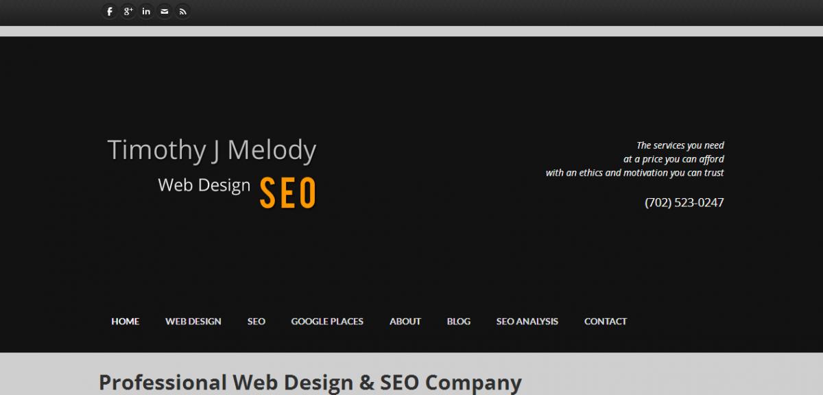 Timothy J Melody Web Design SEO