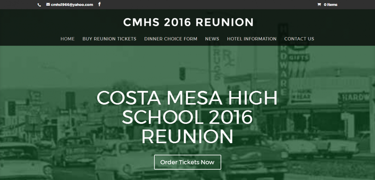 High School Reunion Website Design