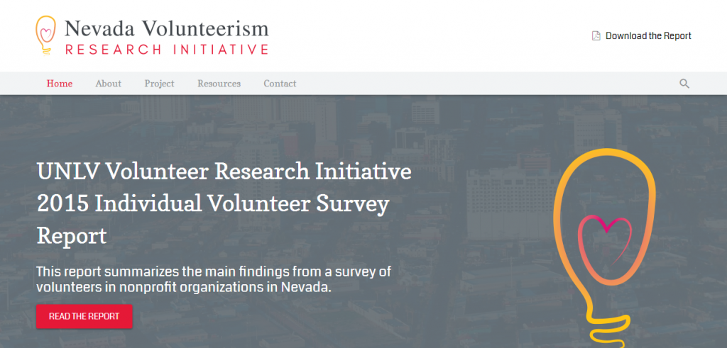 Nevada Volunteerism Research Initiative