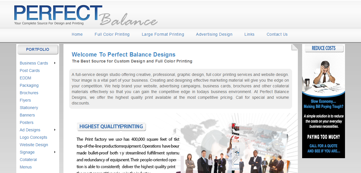 Perfect Balance Designs