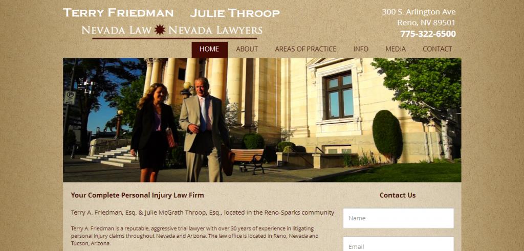 Terry Friedman and Julie Throop, PLC