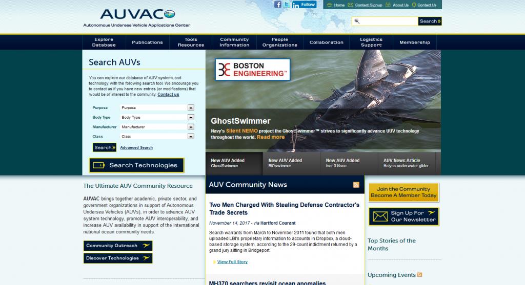 AUVAC Web Development
