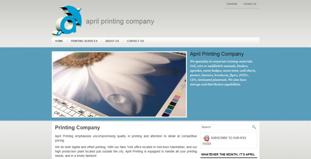 April Printing Company
