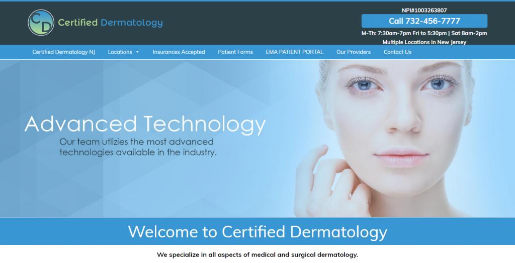 Certified Dermatology