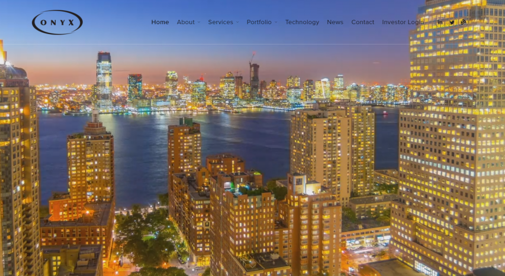 website design for onyx equities